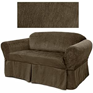 Chenille Dark Chocolate Furniture Slipcover