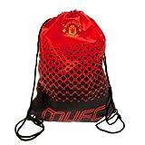 Manchester United F.C. Gym Bag Official MUFC Drawstring Bag 2016/17 - Red/Black
