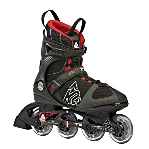 K2 Sports Men's F.I.T. 78 Fitness 2012 Inline Skates (Black/Red, 5)