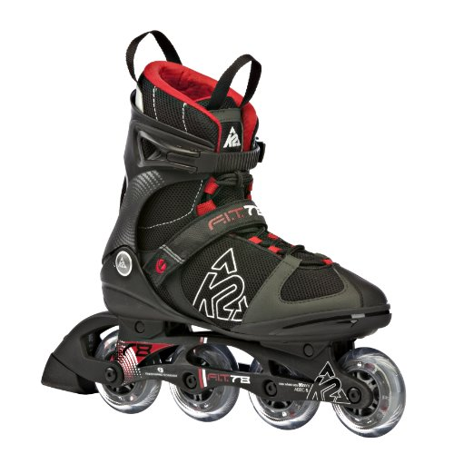 K2 Sports Men's F.I.T. 78 Fitness 2012 Inline Skates (Black/Red, 9.5)