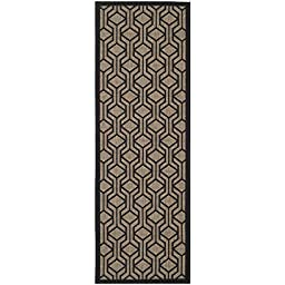 Safavieh Courtyard Collection CY6114-81- Brown and Black Indoor/ Outdoor Runner, 2 feet 3 inches by 6 feet 7 inches (2\'3\