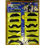 Pack of 12 Adhesive Assorted Black Mo...