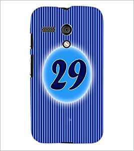 PrintDhaba Numerology Number 29 D-2588 Back Case Cover for MOTOROLA MOTO G (Multi-Coloured)