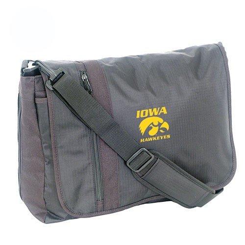 Mercury Luggage Iowa Hawkeyes Black Messenger Bag