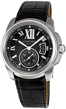 Cartier Men's W7100014 Calibre de Cartier Steel Automatic Watch from Cornerwind Media