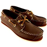Kids Boys Timberland Classic 2 Eye Heritage Leather Deck Shoes Boat Shoe - Brown - 12