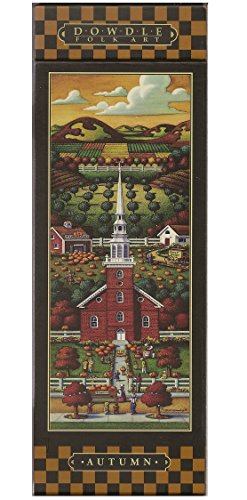 Eric Dowdle's Folk Art, New England Church - Autumn; 300 Piece Puzzle - 1