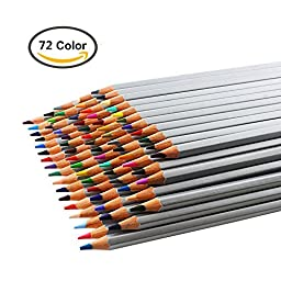 Koolife Colored Drawing Pencils for Artist Sketch, 72 Assorted Colors