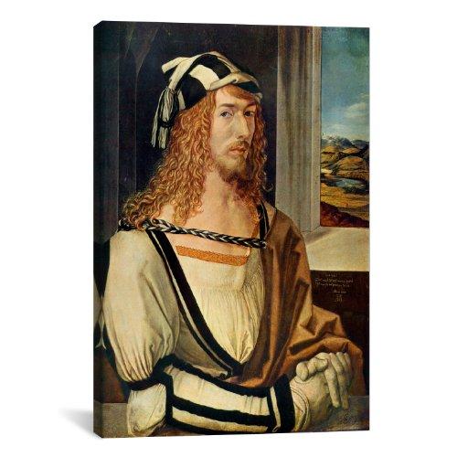 "Icanvasart Albrecht D?Rer Self-Portrait Canvas Art Print Painting Reproduction #1499 18""X12"""