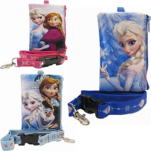 Disney Frozen Set of 3 Lanyards with Coin Purse - 1