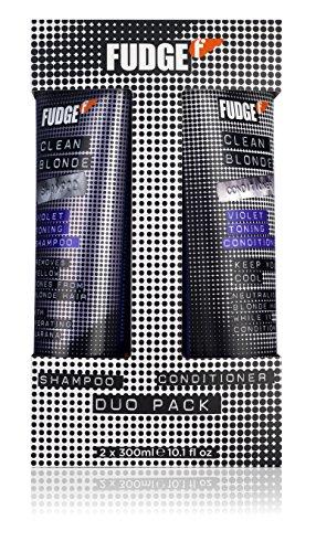 Fudge Duo Shampoo and Conditioner, Clean Violet Blonde 300 ml by Fudge