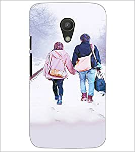 PrintDhaba Couple D-3726 Back Case Cover for MOTOROLA MOTO G2 (Multi-Coloured)