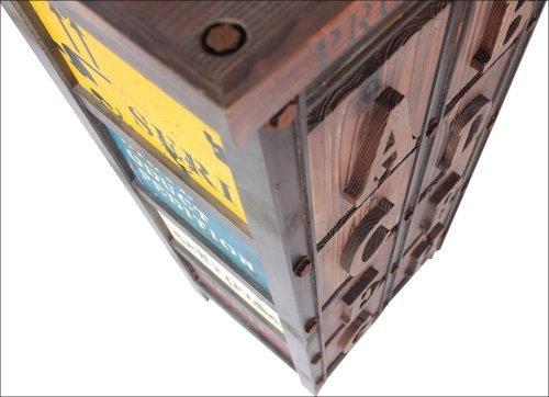 Vintage style schrank  Design Kommode Holz Schrank Metall Optik Vintage Style Loft Möbel ...