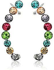 Piercing India Sweep Multi Color Jeweled Ear Cuff Wrap Cartilage Clip On Piercing