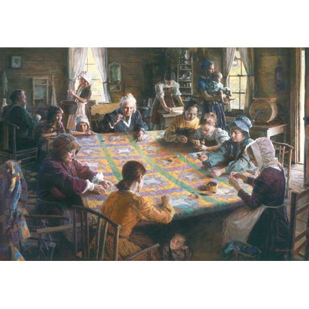 Picture of SunsOut Morgan Weisling M. Weisling's Quilting Bee 500pc Jigsaw Puzzle (B001O5NSS6) (Jigsaw Puzzles)
