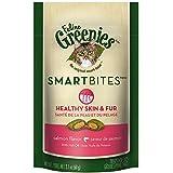 FELINE GREENIES SMARTBITES Healthy Skin and Fur Treats for Cats Salmon Flavor - 2.1 oz.