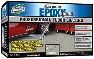 Rust-Oleum 203373 Professional Floor Coating Kit, Silver Gray
