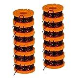 WORX WA0010 Replacement 10-Foot Grass Trimmer/Edger Spool Line 12-Pack for WG150, WG151, WG152, WG155, WG165, WG166, WG160, WG167, WG175 # WA0010-2pk