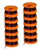 WORX WA0010 Replacement 10-Foot Grass Trimmer/Edger Spool Line 12-Pack for WG150, WG151, WG152, WG155, WG165, WG166, WG160, WG167, WG175 # WA0010-2pk