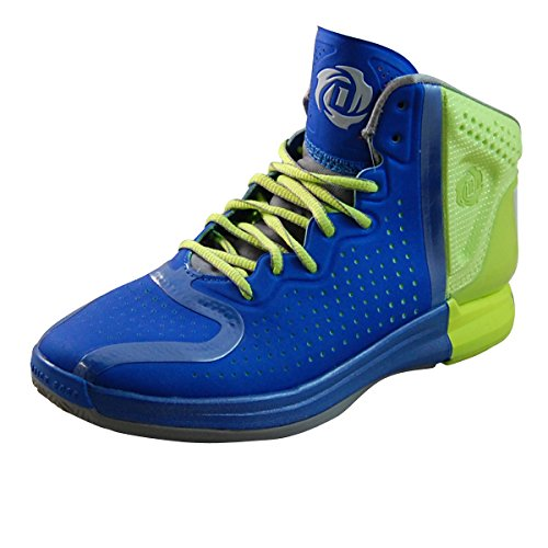 Adidas D Rose 4 J (Kids) - Blue / Run White-Electric, 5 M Us
