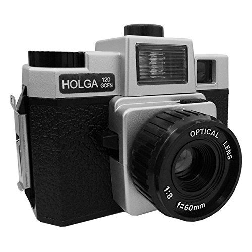 Best Prices! Holga 120 GCFN Medium Format Film Plastic Camera Glass Lens Flash Lomo Silver/Black