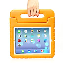 iPad 2/3/4 Case - Travellor® Kids Light Weight Kido Series Multi Function Convertible Handle Kickstand Kids Friendly Protective Shockproof Cover with Stand & Handle for Apple iPad 2/3/4 (Orange)