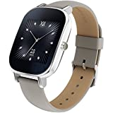 """ASUS 新型 Android Wear スマートウォッチ「ZenWatch 2」1.45"""", Silver case with Beige leather band [並行輸入品]"""
