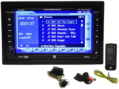 Dual DV615B Double DIN with -inch LCD Touchscreen DVD CD