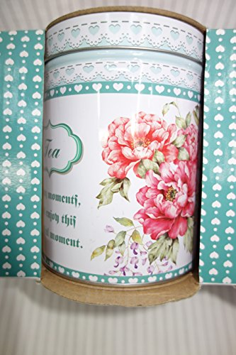 Beautiful Tea Coffee And Sugar Storage Canisters Set Shabby Chic With Set Of 3 Home Garden