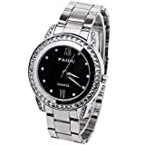 Vintage Creative Design Ring Leather Bracelet Wrist Watch Fashion Lady Girl Wrist Quartz Watch Gift