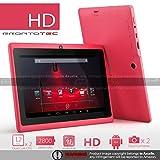 """ProntoTec Axius Series 7"""" Android 4.2 Tablet PC,HD 1024 x 600 Pixels,Cortex A8 Dual Core Processor, 512MB/6GB, Dual Camera, HDMI, G-Sensor, Google Play Pre-load -pink"""