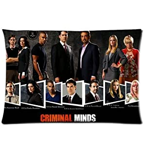 Custom Criminal Minds Zippered Cotton & Polyester Pillowcases Pillow Cases 20x30 (Twin sides)