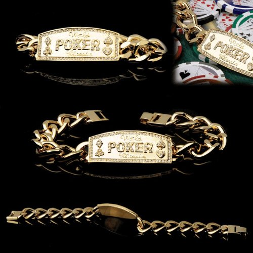 Gold Link Poker Champion Bracelet