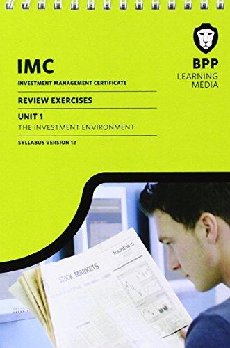 IMC Unit 1 Syllabus Version 12: Review Exercises