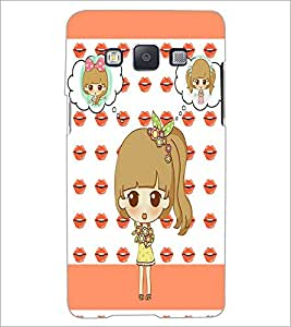 PrintDhaba Cute Doll D-3800 Back Case Cover for SAMSUNG GALAXY A5 (Multi-Coloured)