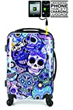 "20""/55cm TOKYOTO Luggage BLUE SKULLS (Charger Prepared Luggage)"