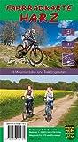 Fahrradkarte Harz - wetterfest: Zwei topografische Karten mit Wegen und Routen-Vorschlägen für Mountain- und Trekkingbike