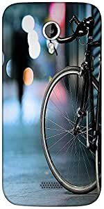 Snoogg Bicycles Digital Art Designer Protective Back Case Cover For Micromax A116