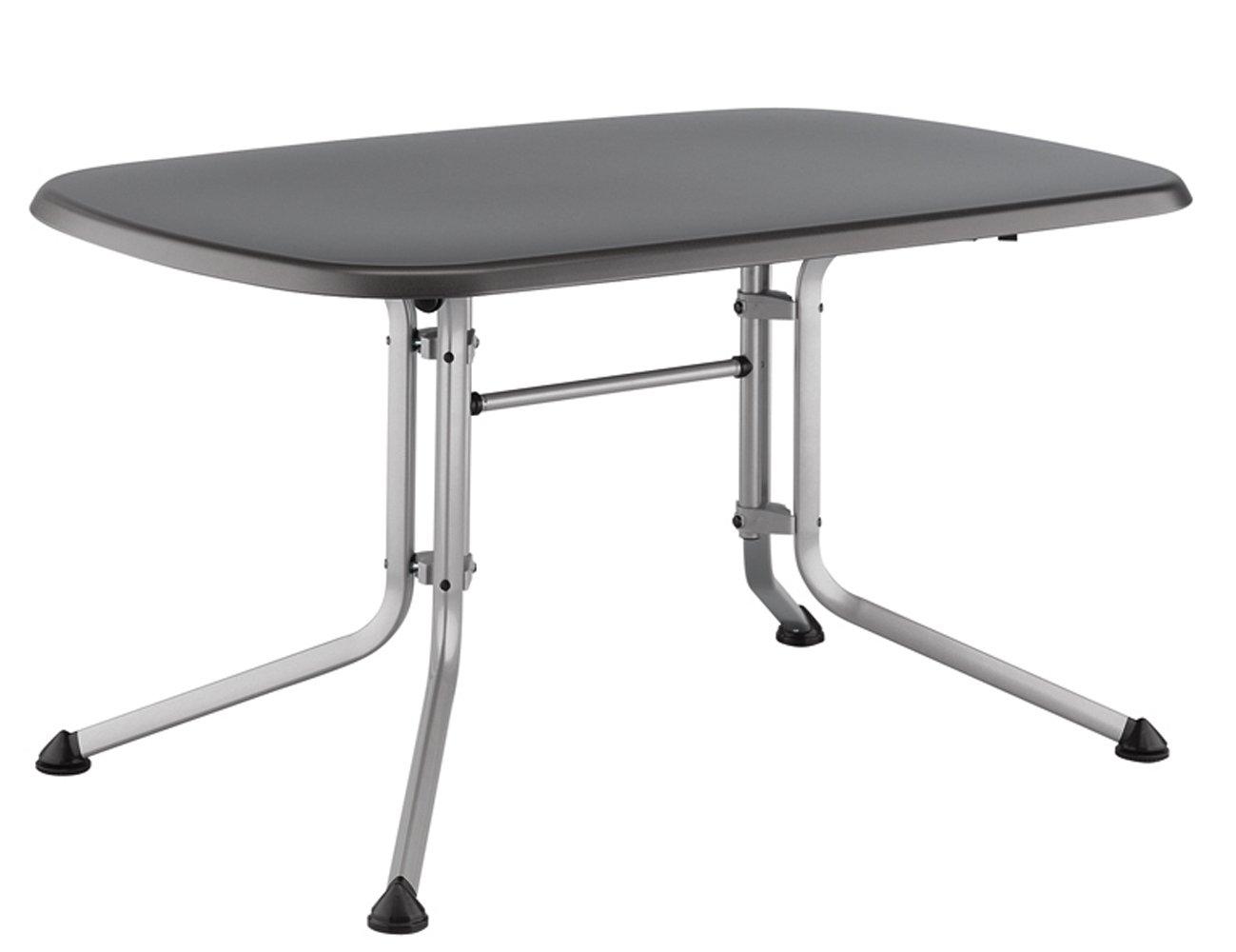 Kettler Gartentisch oval 140x90cm, silber/eisengrau Aluminiumgestell silber, Kettalux-Plus-Platte
