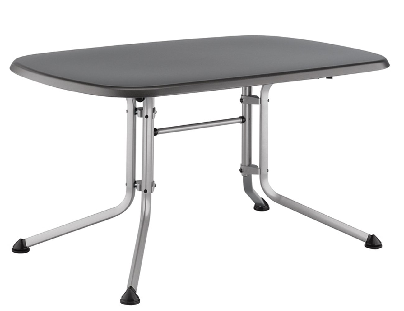 kettler gartentisch oval 140x90cm silber eisengrau aluminiumgestell silber kettalux plus. Black Bedroom Furniture Sets. Home Design Ideas