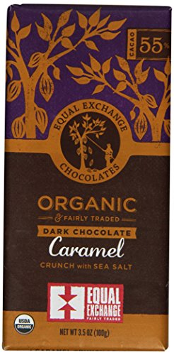 Equal Exchange Organic Chocolate Caramel Crunch With Sea Salt, 3.5-Ounce (Pack Of 6)