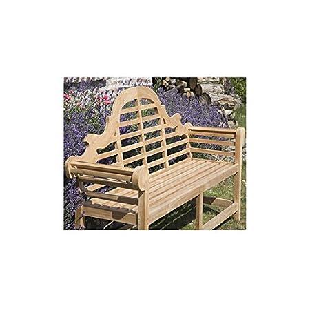 Banc de jardin en bois de TECK BRUT QUALITE PREMIUM - 120 cm