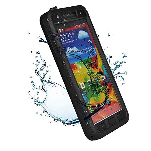 Queens® Samsung Galaxy Note 3 Waterproof Cases And Covers, Waterproof Water Resistant Case,Shockproof Snowproof Dirtproof Rugged Hard Armor Gorilla Glass Proctive Cover For Samsung Galaxy Note 3 Iii (0-Note 3 Waterproof Queens Case Cover Black)