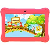 """Tagital® 7"""" T7K Quad Core Android Kids Tablet, with Wifi and Camera and Games, HD Kids Edition w/Zoodles Pre-Installed Pink"""