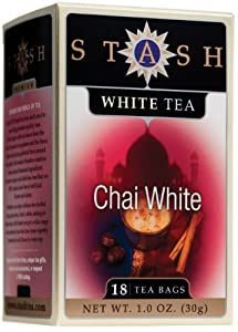 Stash Premium Chai White Tea Tea Bags 18-count Boxes Pack Of 6 from Stash