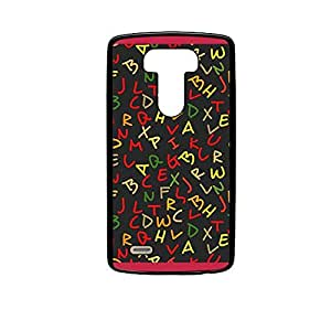 Vibhar printed case back cover for LG G4 GlowingAlphabets
