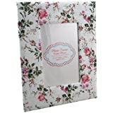 Vintage Floral 6X4 Photo Frame - Pink Roses and Green Leavesby Carousel Home