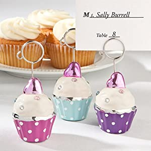 Cupcake Place Card Holders or Table Number Markers (Set of 3)