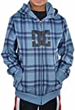 DC SHOES Little Boys' T-Star Plaid Zip Up Hoodie-Blue/Navy-2T