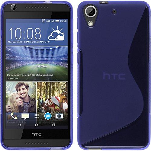 PhoneNatic HTC Desire 626 Hülle Silikon lila S-Style Case Desire 626 Tasche + 2 Schutzfolien